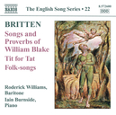 SONGS AND PROVERBS OF WIL RODERICK WILLIAMS/IAIN BURNSIDE