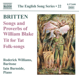 SONGS AND PROVERBS OF WIL RODERICK WILLIAMS/IAIN BURNSIDE B. BRITTEN, CD
