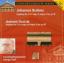 SYMPH.NO.3/SYMPH.NO.8 CONCERTGEBOUWORKEST/GEORGE SZELL Audio CD, BRAHMS/DVORAK, CD