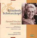 FAREWELL RECITAL AMSTERDA ...1977/WORKS FROM WOLF,SCHUBERT,STRAUSS,SCHUMANN,MAHLE
