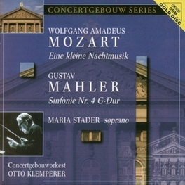 SYMPHONY NO.4 CONCERGEBOUWORKEST/STADER/KLEMPERER Audio CD, MAHLER/MOZART, CD