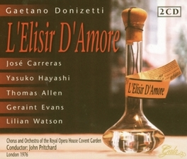 L'ELISIR D'AMORE ROYAL OPERA HOUSE COVENT GARDEN/JOHN PRITCHARD Audio CD, G. DONIZETTI, CD