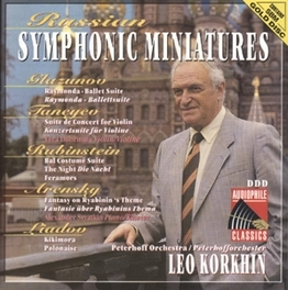 RUSSIAN SYMPH. MINIATURES LEO KORKHIN Audio CD, GLAZUNO/TANEYEV/RUBINSTEI, CD