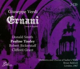 ERNANI ORCHESTRA AND CHORUS OF SADLER'S WELLS Audio CD, G. VERDI, CD