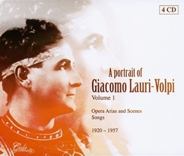 A PORTRAIT OF VOL.1 OPERA ARIAS & SCENE SONGS 1920-1957 Audio CD, LAURI-VOLPI, GIACOMO, CD