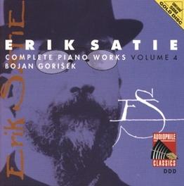 COMPLETE PIANO WORKS 4 BOJAN GORISEK Audio CD, E. SATIE, CD