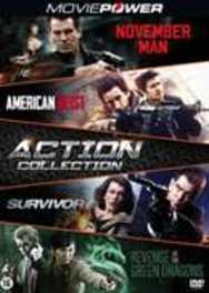 Action collection 1 (2016) , (DVD) NOVEMBER MAN-AMERICAN HEIST-SURVIVOR-REVENGE OF GREEN D. DVD