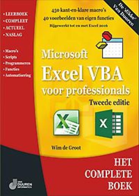 Het complete boek. Excel VBA voor professional, de Groot, Wim, Paperback