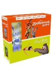 Jungle book & Zootropolis + Pluche, (DVD).