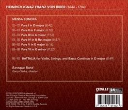 MENSA SONORA BAROQUE BAND/GARRY CLARKE H.I.F. VON BIBER, CD