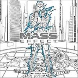 Mass Effect Adult Coloring Book Bioware, Paperback