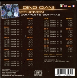 COMPLETE PIANO SONATAS W/DINO CIANI Audio CD, L. VAN BEETHOVEN, CD