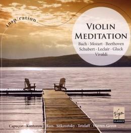 VIOLIN MEDITATION WORKS OF BACH/MOZART/BEETHOVEN/SCHUBERT/LECLAIR/GLUCK/ V/A, CD