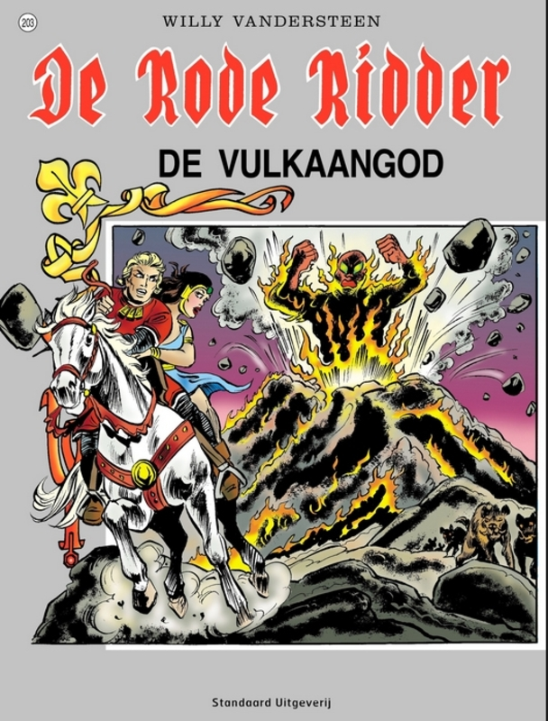 RODE RIDDER 203. DE VULKAANGOD RODE RIDDER, Vandersteen, Willy, Paperback