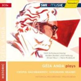GEZA ANDA PLAYS SWR S.O./BOUR/ROSBAUD Audio CD, CHOPIN/RACHMANINOV, CD