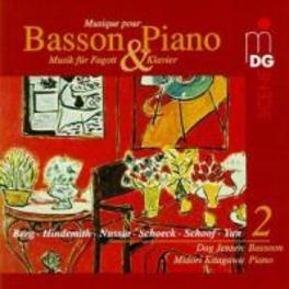 MUSIC FOR BASSOON &.. ...KITAGAWA/WORKS:SCHOFF/HINDEMITH/YUN/SCHOECK... Audio CD, DAG/MIDORI KITAGA JENSEN, CD