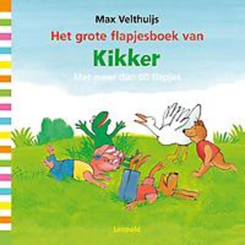 Het grote flapjesboek van Kikker met meer dan 60 flapjes, Max Velthuijs, Hardcover
