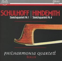 STRING QUARTET NO.1,4 PHILHARMONIA QUARTETT BERLIN Audio CD, SCHULHOFF/HINDEMITH, CD