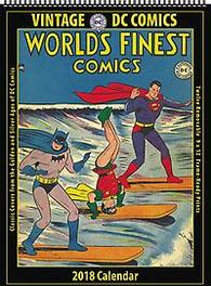 VINTAGE DC COMICS 2018 12 MONTH WALL CALENDAR Classic Covers from the Golden Age of Dc Comics, Paperback