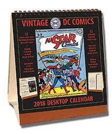 VINTAGE DC COMICS 2018 DESKTOP CALENDAR Paperback