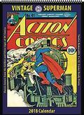 VINTAGE DC COMICS SUPERMAN 2018 12 MONTH WALL CALENDAR