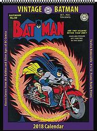VINTAGE DC COMICS BATMAN 2018 12 MONTH WALL CALENDAR Paperback