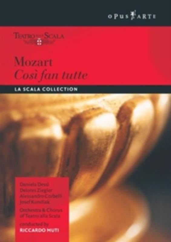 COSI FAN TUTTE NTSC/ALL REGIONS/LA SCALA MILAN/RICCARDO MUTI W.A. MOZART, DVD