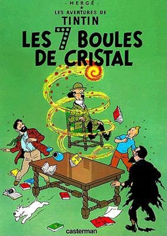 Les 7 Boules de Cristal * The Seven Crystal Balls TINTIN, HERGÉ, Hardcover