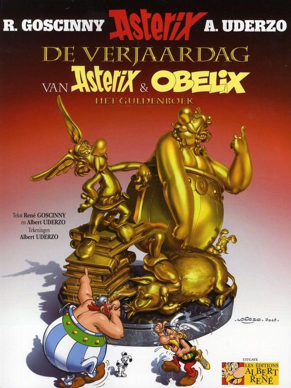 ASTERIX 34. DE VERJAARDAG VAN ASTERIX & OBELIX het guldenboek, Uderzo, Albert, Paperback