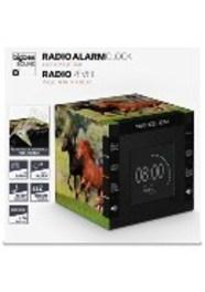 Bigben Interactive Wekkerradio met tijdprojectie met paarden
