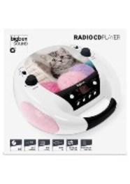 Bigben Interactive Portable radio-CD speler met schattig poezendesign