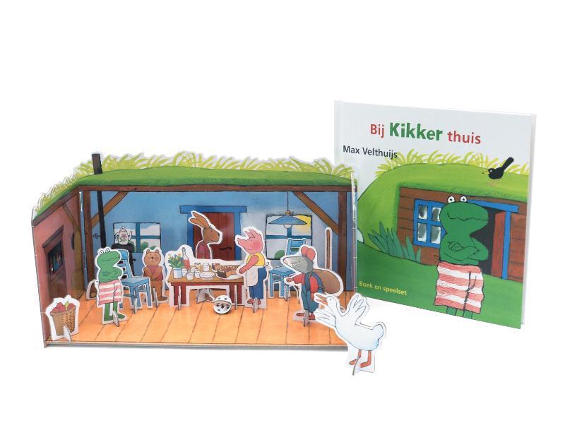 Bij Kikker thuis Boek en speelset, Max Velthuijs, Hardcover