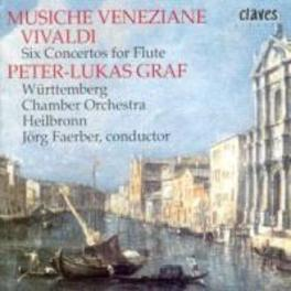 SIX CONCERTOS FOR FLUTE WUTTEMBERG CHAMBER ORCHESTRA/PETER-LUKAS GRAF A. VIVALDI, CD