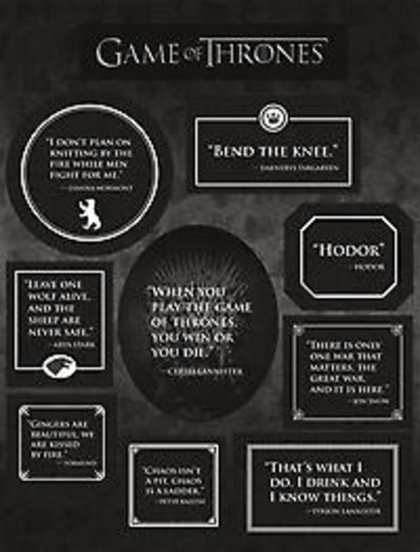 GAME OF THRONES QUOTES MAGNET SET N/A, onb.uitv.