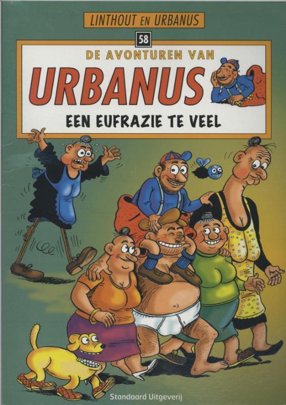 URBANUS 058. EEN EUFRAZIE TE VEEL De avonturen van Urbanus, Linthout, Willy, Paperback