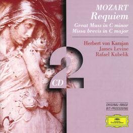 REQUIEM-GREAT MASS IN C M W/HERBERT VON KARAJAN, JAMES LEVINE, ANNA TOMOWA-SINTOW Audio CD, W.A. MOZART, CD