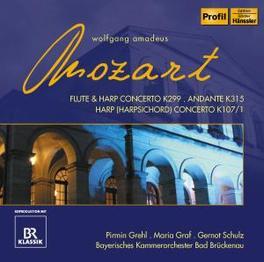 CONCERTO FOR FLUTE & HARP GREHL/GRAF/SCHULZ Audio CD, W.A. MOZART, CD