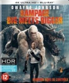 Rampage - Big meets bigger, (Blu-Ray 4K Ultra HD) BILINGUAL /CAST: DWAYNE JOHNSON, NAOMIE HARRIS Blu-Ray