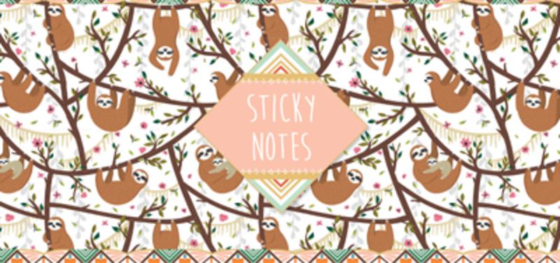 Sticky notes box Luiaard. 11 verschillende designs, Hardcover
