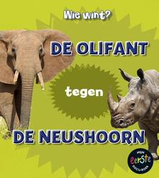 De olifant tegen de neushoorn