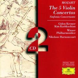 5 VIOLIN CONCERTOS KV207, ...211,216,218,219/W/GIDON KREMER-VIOLIN, WIENER PHILHA Audio CD, W.A. MOZART, CD