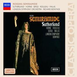 SEMIRAMIDE W/JOAN SUTHERLAND Audio CD, G. ROSSINI, CD