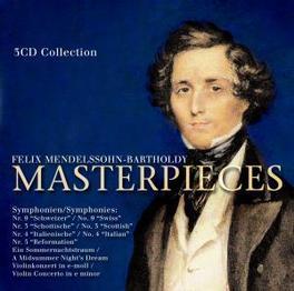 MASTER PIECES SYMPHONIEN:9/3/4/5/EIN SOMMERNACHTSTRAUM/MIDSUMMER NIGH Audio CD, MENDELSSOHN-BARTHOLDY, F., CD