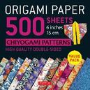 Origami Paper 500 Sheets Chiyogami Designs 6' 15cm