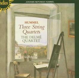 THREE STRING QUARTETS DELME QUARTET Audio CD, J.N. HUMMEL, CD