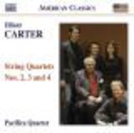 STRING QUARTETS NO.2-4 PACIFICA QUARTET Audio CD, E. CARTER, CD