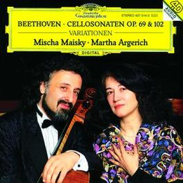 CELLOSONATEN OP.69 & 102 W/MISCHA MAISKY, MARTHA ARGERICH Audio CD, L. VAN BEETHOVEN, CD