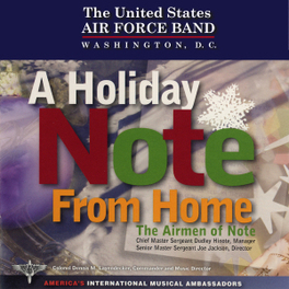 A HOLIDAY NOTE FROM HOME AIRMEN OF NOTE, CD