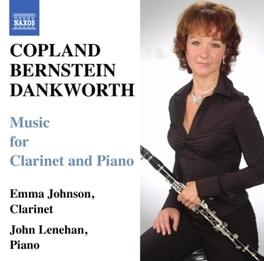 MUSIC FOR CLARINET & PIAN JOHNSON, LENEHAN Audio CD, COPLAND/BERNSTEIN, CD
