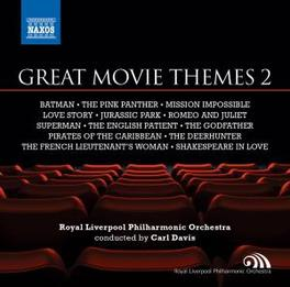 GREAT MOVIE THEMES VOL.2 W/CARL DAVIS Audio CD, ROYAL LIVERPOOL PHILHARMO, CD